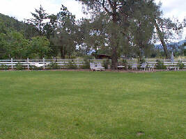 Grounds of Trailside Inn, Calistoga, CA