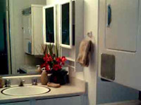 Trailside Inn Maui Condo Vacation Rental Bathroom with Washer/Dryer